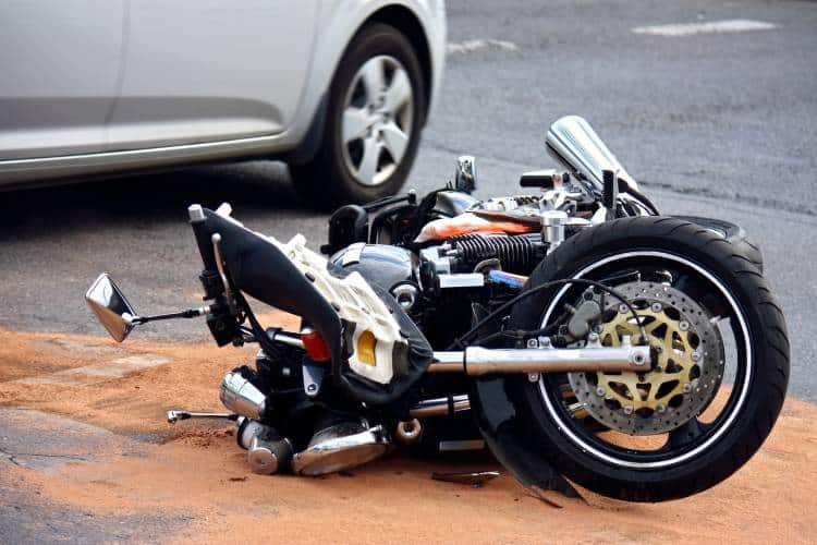 Bike On Pavement After Motorcycle Accident