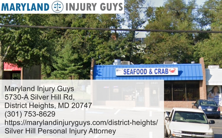silver hill personal injury attorney near hill seafood & crab inc.